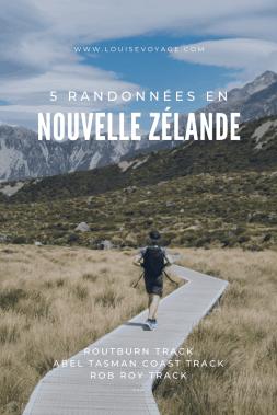5 Randonnées en Nouvelle Zelande