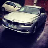 Enjoying a BMW 3 series