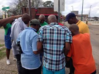 Prayering on streets