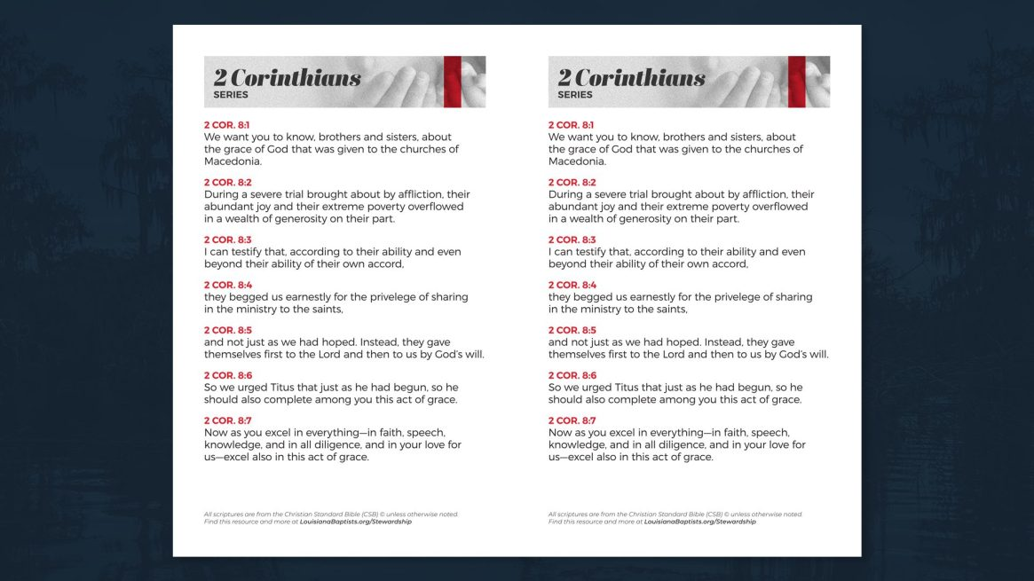 2 Corinthians 8 Handout