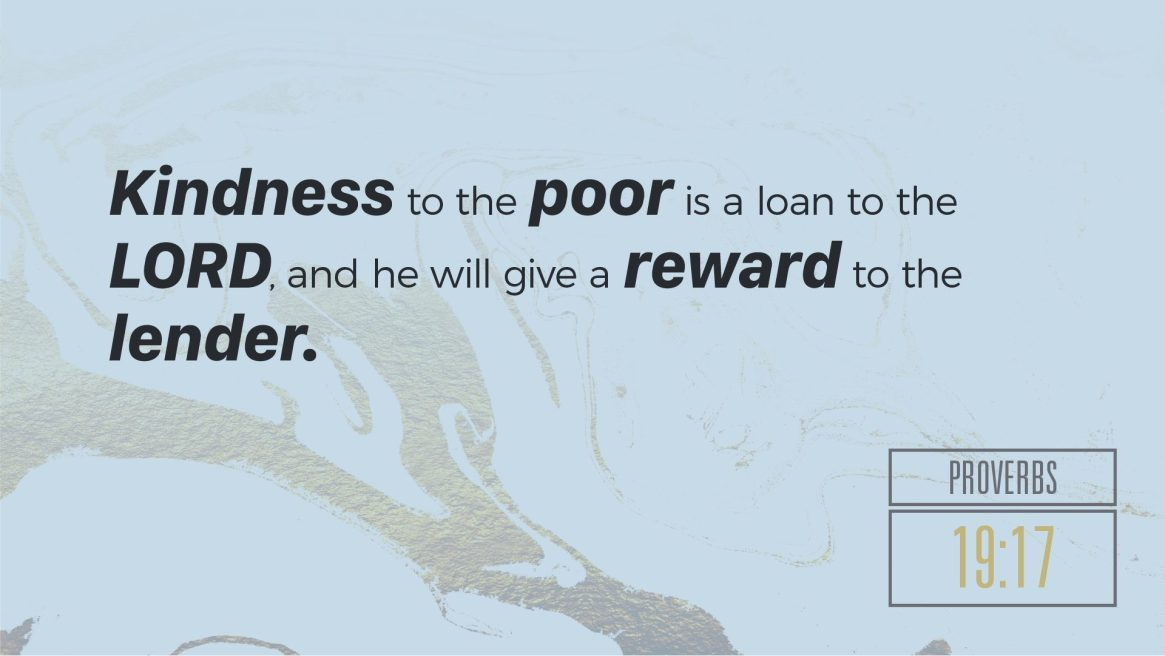 Proverbs on Wealth - Prov. 19:17