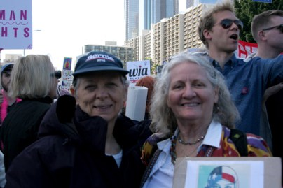 Madeline Taylor marches with me at Pershing Square