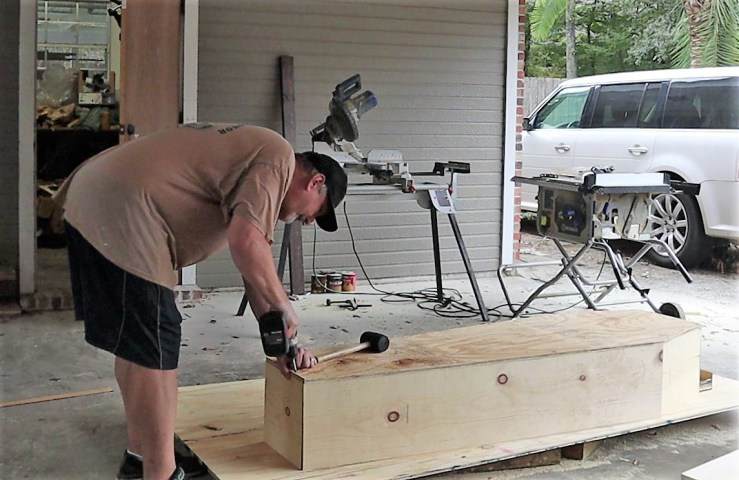Constructing the Halloween DIY Coffin