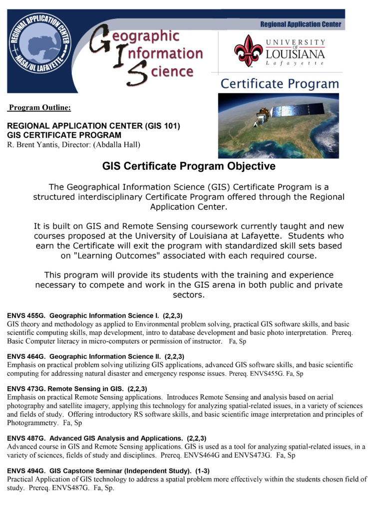Gis Certification Louisianaview