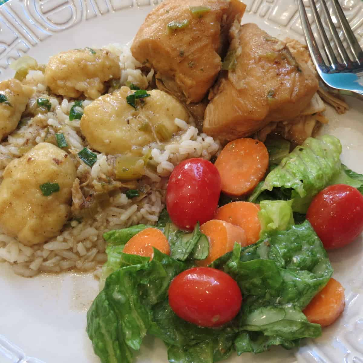 Chicken Fricassee With Dumplings, A Rustic Stew