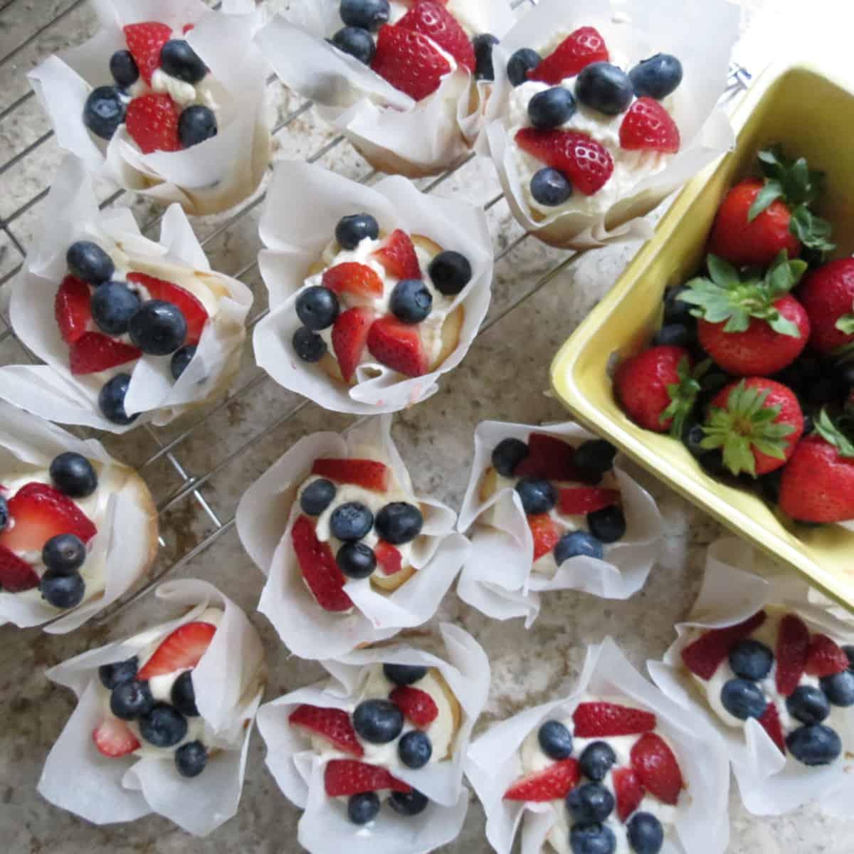 Gateau Frais Cupcakes, Or Fresh Cake Cupcakes