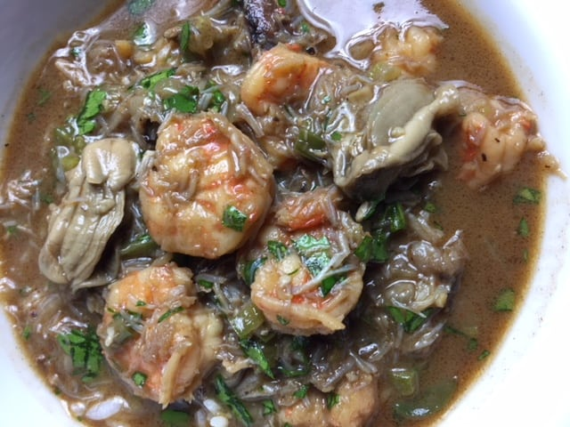A bowl full of Seafood Gumbo