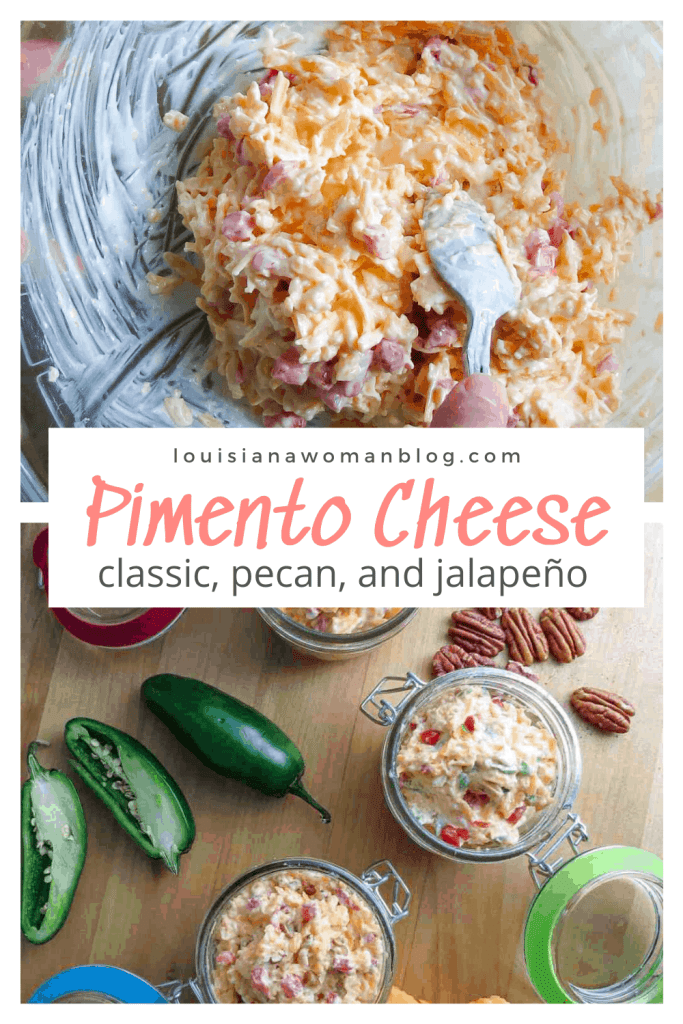 Pimento cheese with jalapeños and pecans.