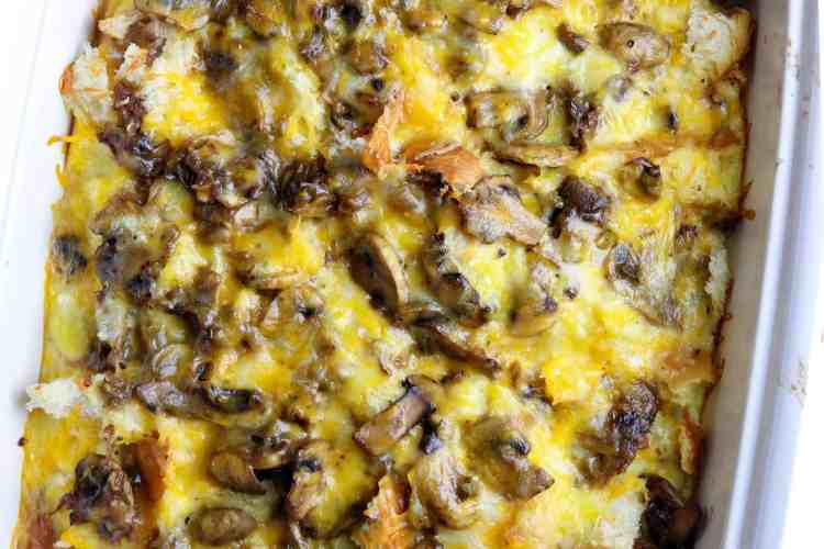 Casserole of vegetable and egg casserole.