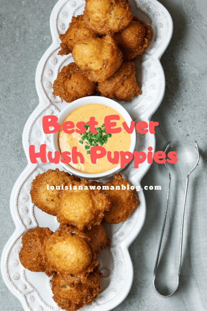 A plate of hush puppies and dip.