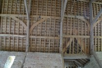 barn, roof trusses, green oak, timber frame, restoration