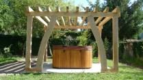 oak pergola, oak frame, carpenter, carpentry, timber frame, timber framing, garden structures, Dordogne, France