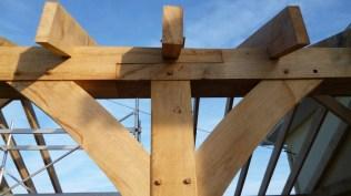 timber framing, oak, green oak, wind brace, top plate, oak garage, Dordogne, France
