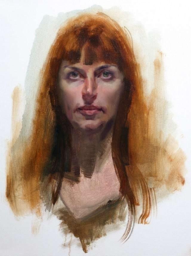 portrait painting in oils