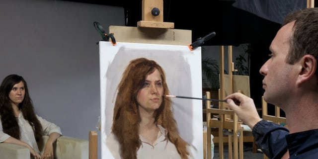 Valeria-in-studio-web sky arts portrait artist of the year