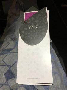 Turkish menu