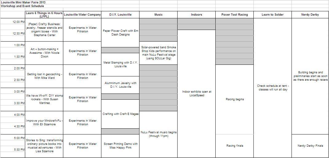 subject schedule maker
