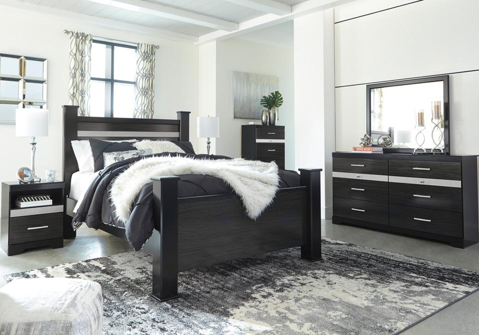 starberry black queen poster bedroom set