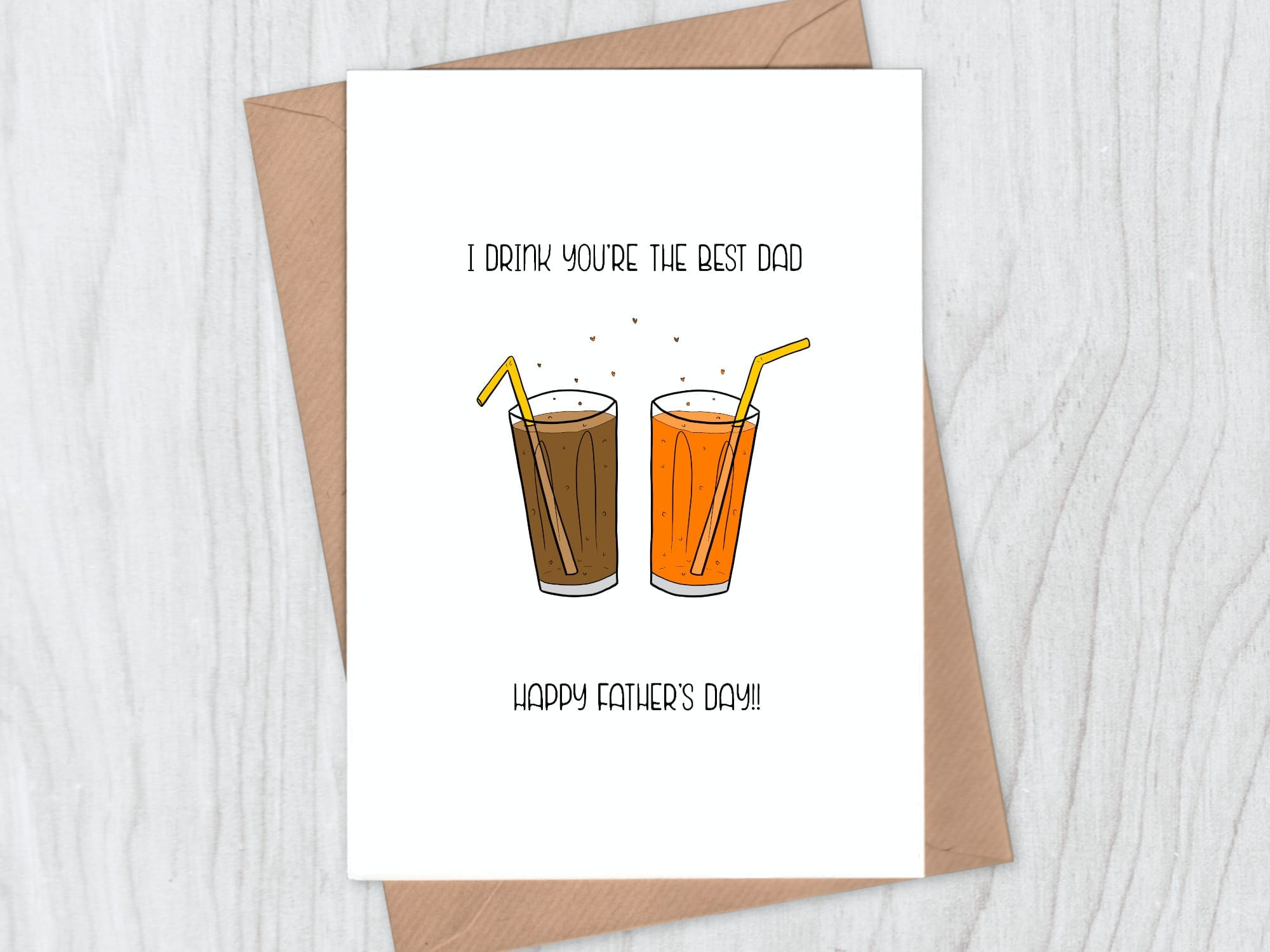I drink you're the best dad from father's day card collection