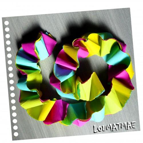 guirlande papier crépon 4 couleurs