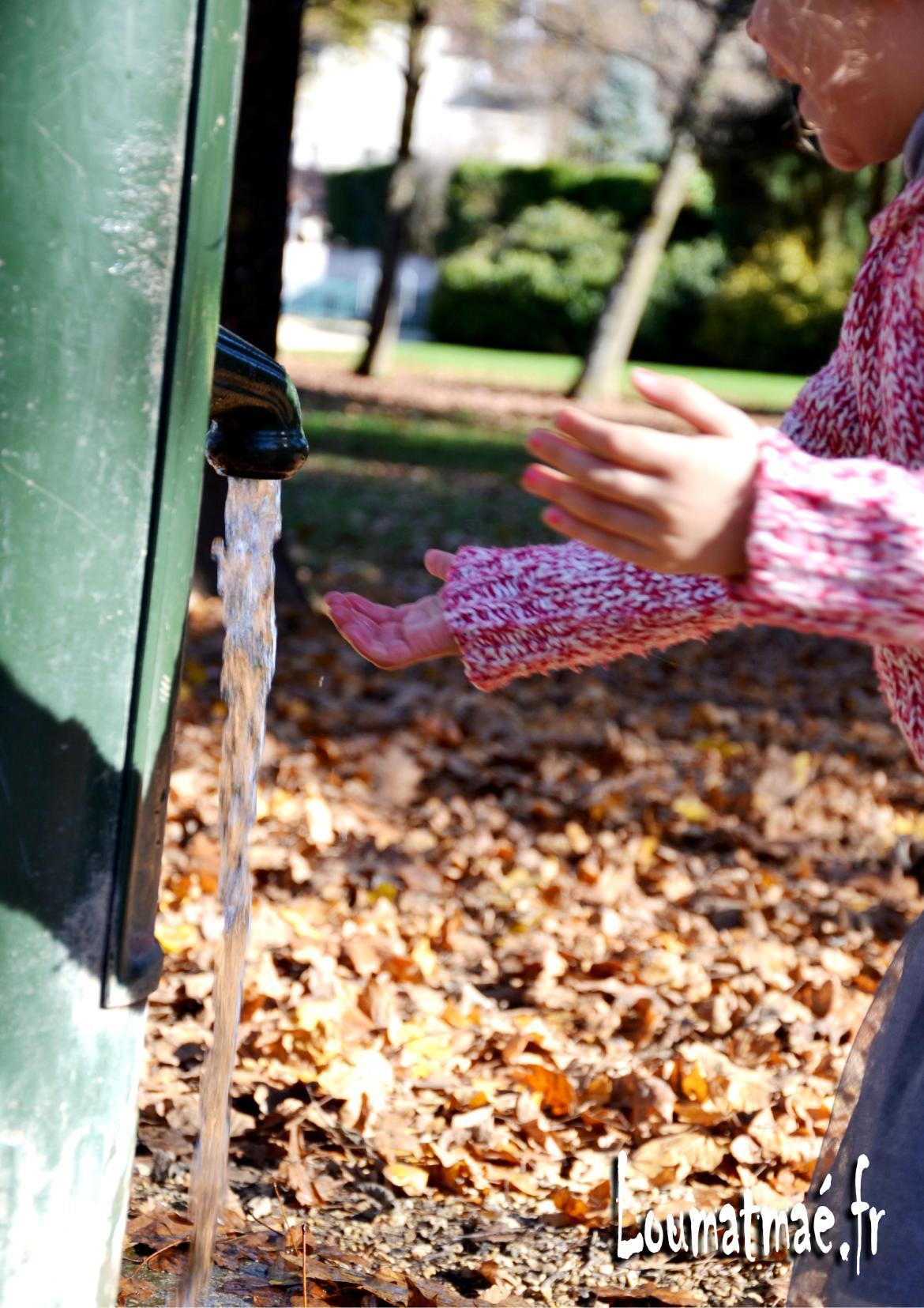 fontaine à eau au parc saint exupéry