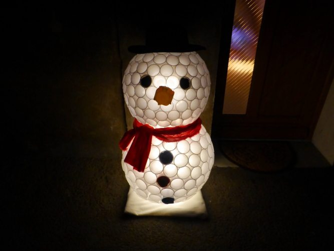 bonhomme de neige gobelet