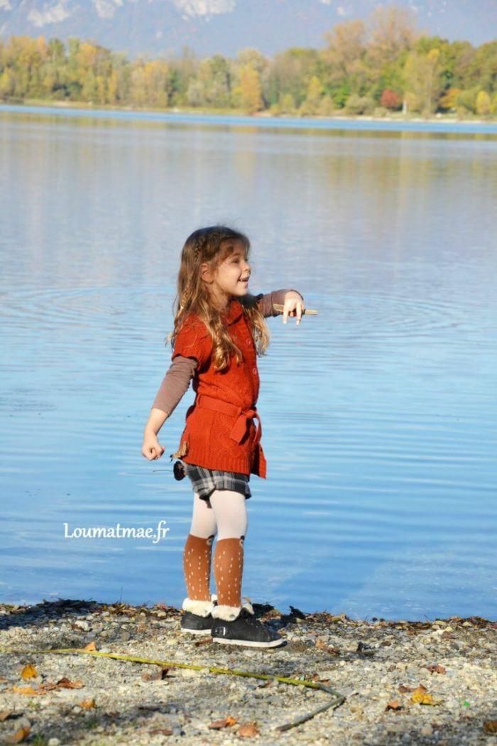Maé au bord du lac