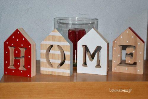 lettres bois Home de chez Lidl