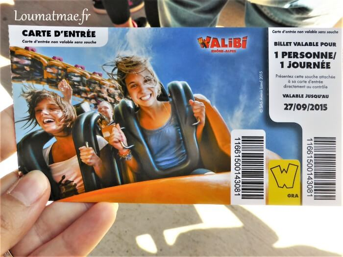 ticket d'entrée parc walibi