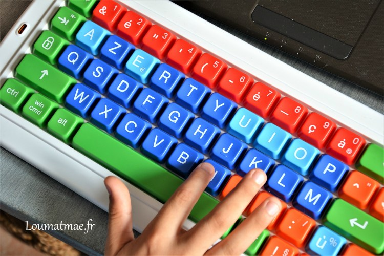 clavier clevy 5 couleurs