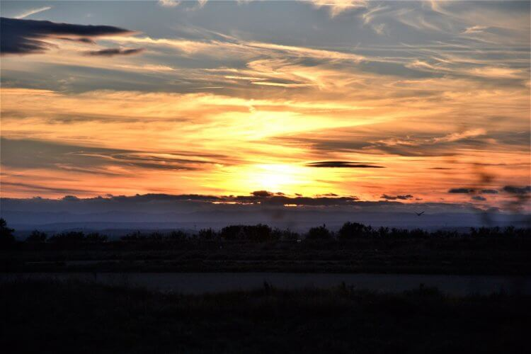 coucher de soleil sur la grande motte