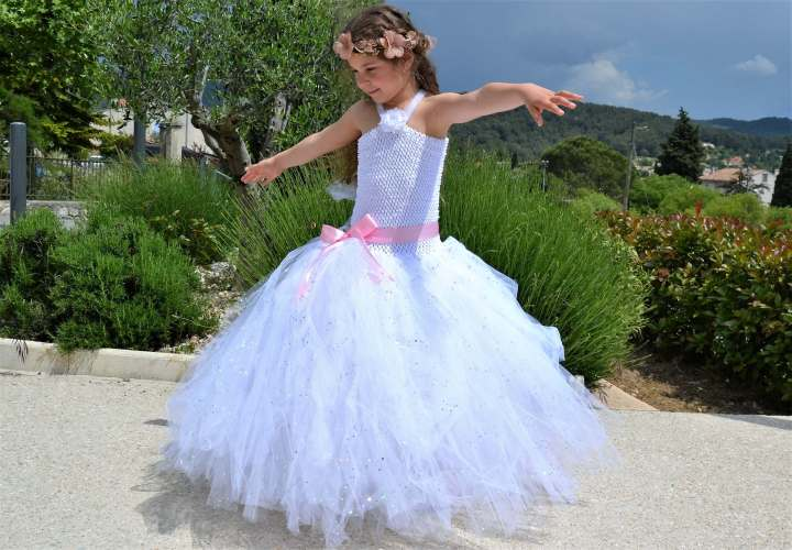 robe tutu enfant mariage