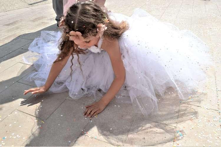 robe mariage enfant en tulle