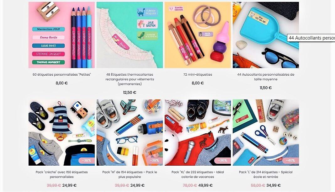 pack étiquettes personnalisées Stickerkid