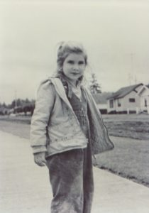 Photo of Lou Nell Lusk as a little girl in Port Angeles, WA