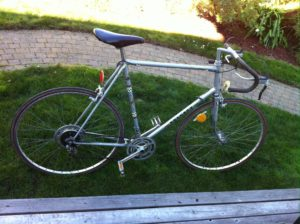 Silver Peugeot Cadre Allege Bicycle