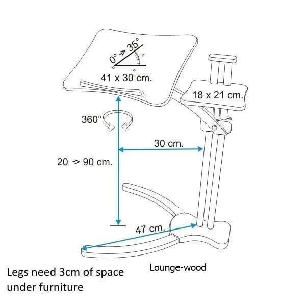 Misure Lounge-wood