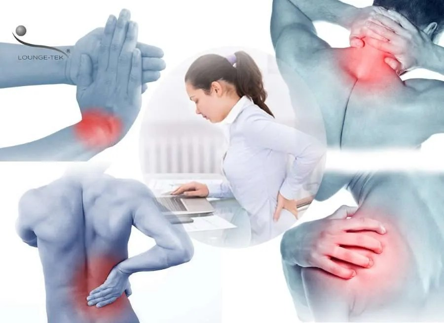 Back pain and other deseases using laptop with poor posture.