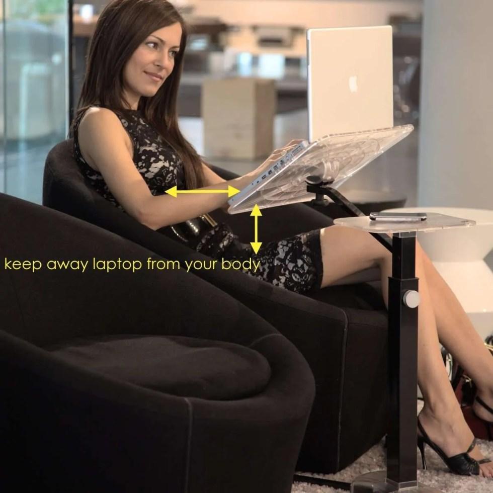 Lounge-book Support pour ordinateur portable. Confort et Ergonomie