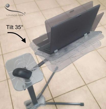 Usa il notebook in modo ergonomico con lounge-book il supporto completamente regolabile