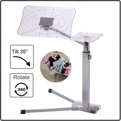 Ergonomic fully adjustable Noptebook table. Enjoy computing at home.