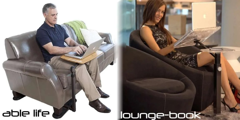 able life rotating laptop table for armchair and sofa vs. lounge-book fully adjustble and portable laptop table
