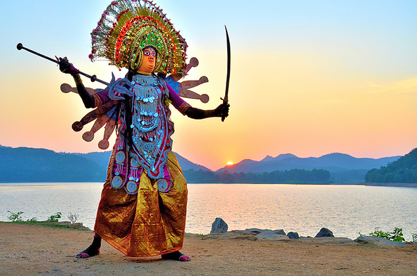 Chhau Dancers at Murguma Lake-Durga - Pallab seth_low.jpg