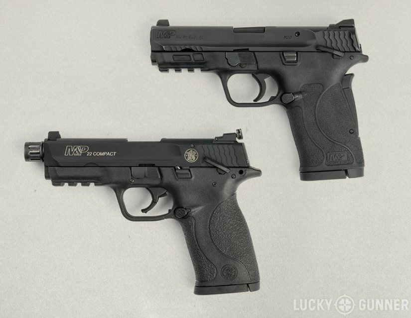 Comparing the S&W Shield 380 EZ to the M&P 22 Compact pistol