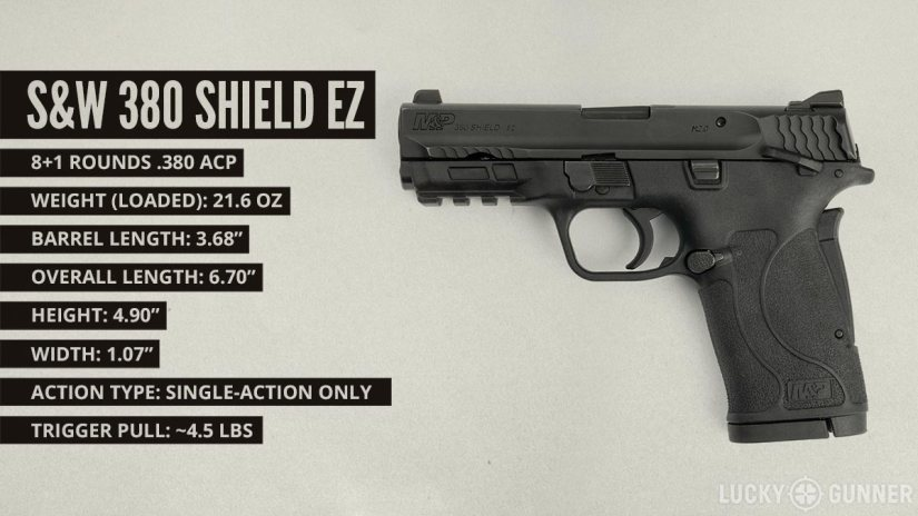 S&W 380 Shield EZ pistol specifications