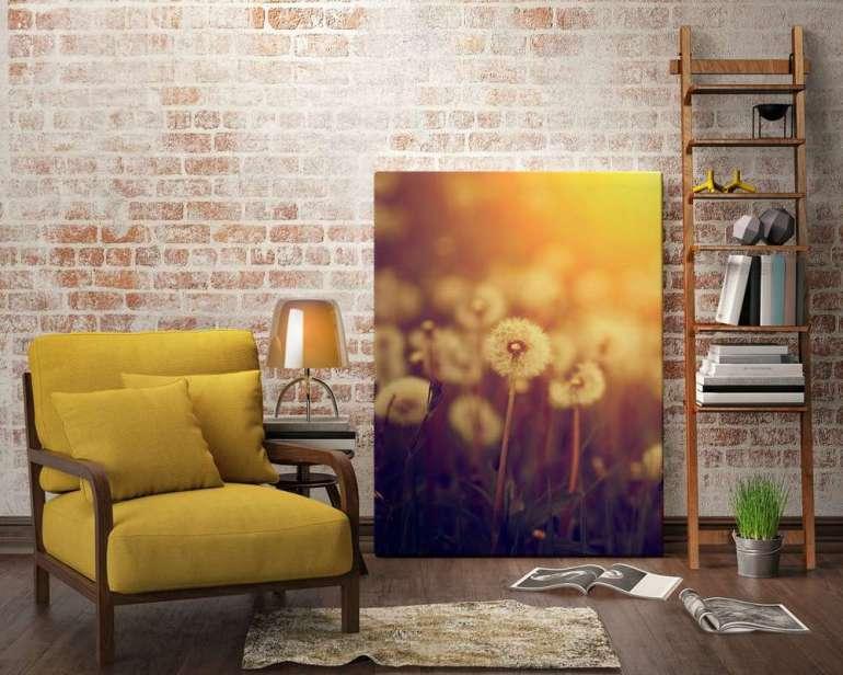 Kwiatowe dekoracje wnowej odsłonie Kwiatowe dekoracje wnowej odsłonie, czyli obrazy zpuszystymi dmuchawcami 2