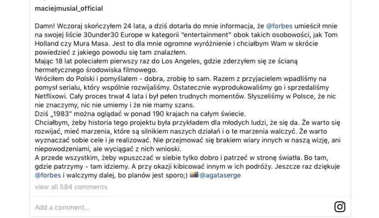 Maciej Musiał naliście młodych wpływowych Forbesa! Maciej Musiał naliście młodych wpływowych Forbesa! 3