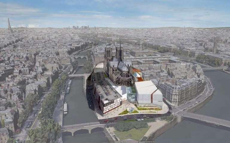 Najbardziej zaskakujące koncepcje odbudowy Notre Dame Najbardziej zaskakujące koncepcje odbudowy Notre Dame 1