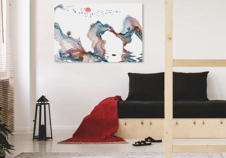 Abstrakcyjny obraz Abstrakcyjny obraz – odważ się nanowoczesną dekorację wnętrza 2