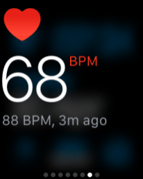 The heart-rate monitor in the Glances section is pretty quick to read your heartbeat.